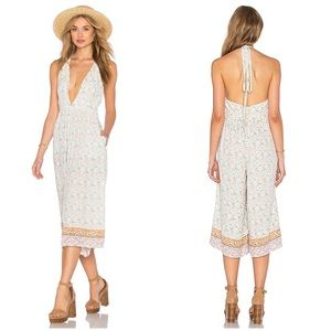 Faithfull the Brand Floral Hamptons Jumpsuit Med